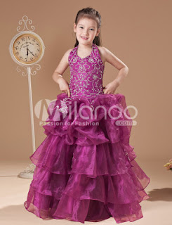 Magnifique Rose Doux étage longueur robe Pageant Fils Filles