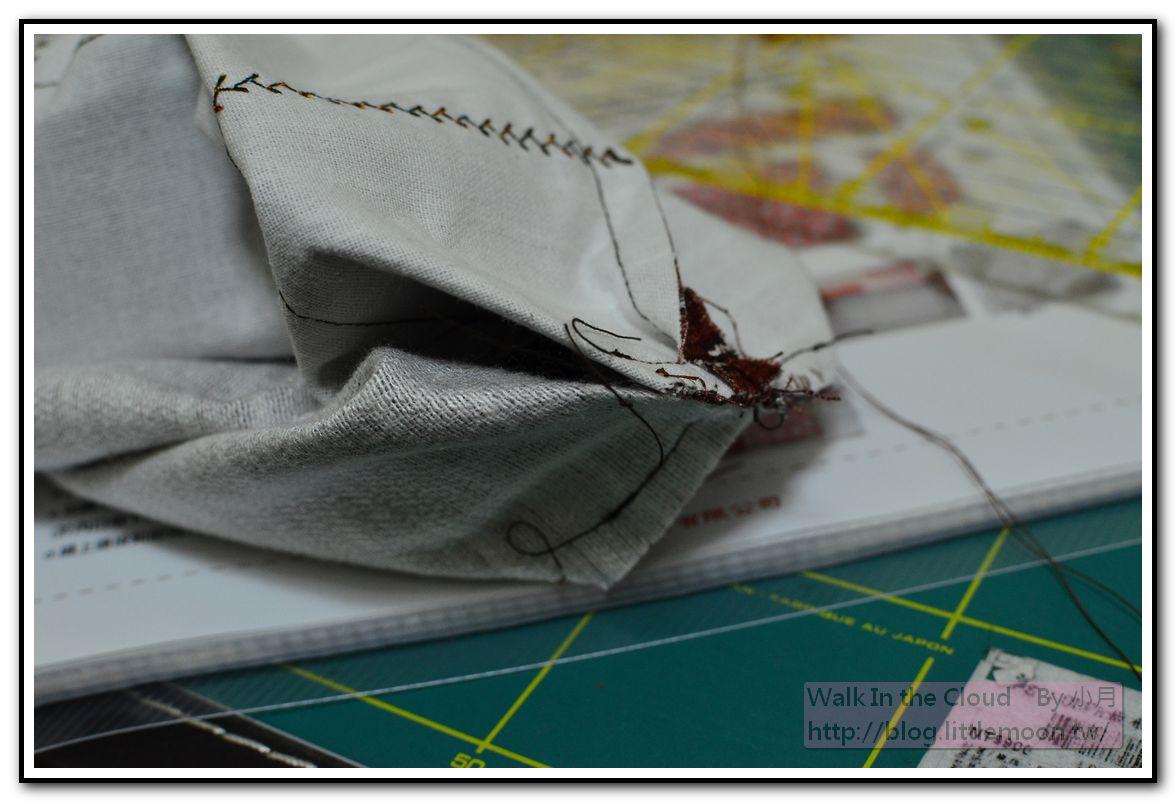 手縫固定表裡袋底角