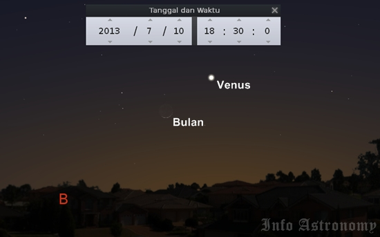 Planet Venus Bertemu Bulan Sore Ini