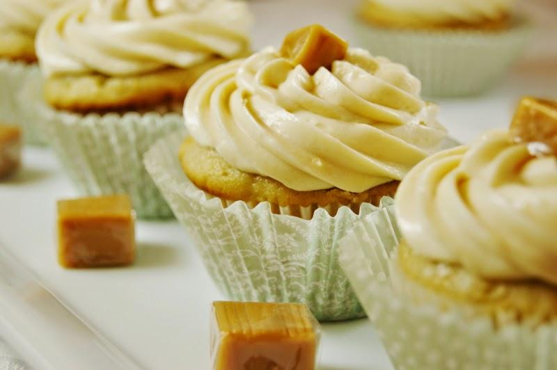 Salted Caramel Cupcakes   www.thekitchenismyplayground.com