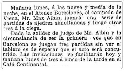 Recorte de La Vanguardia, 28 de agosto de 1910
