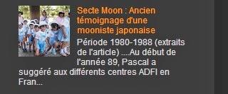 Secte Moon : Ancien témoignage d'une mooniste japonaise
