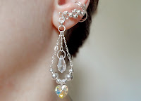 Glamorous Ear Cuffs with Swarovski and Sterling Silver