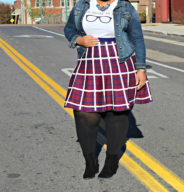 Graphic Tees and Plaid Skirts