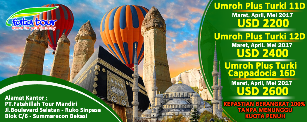 Umroh Plus Turki Funtastic 2018 - Call 081384211114