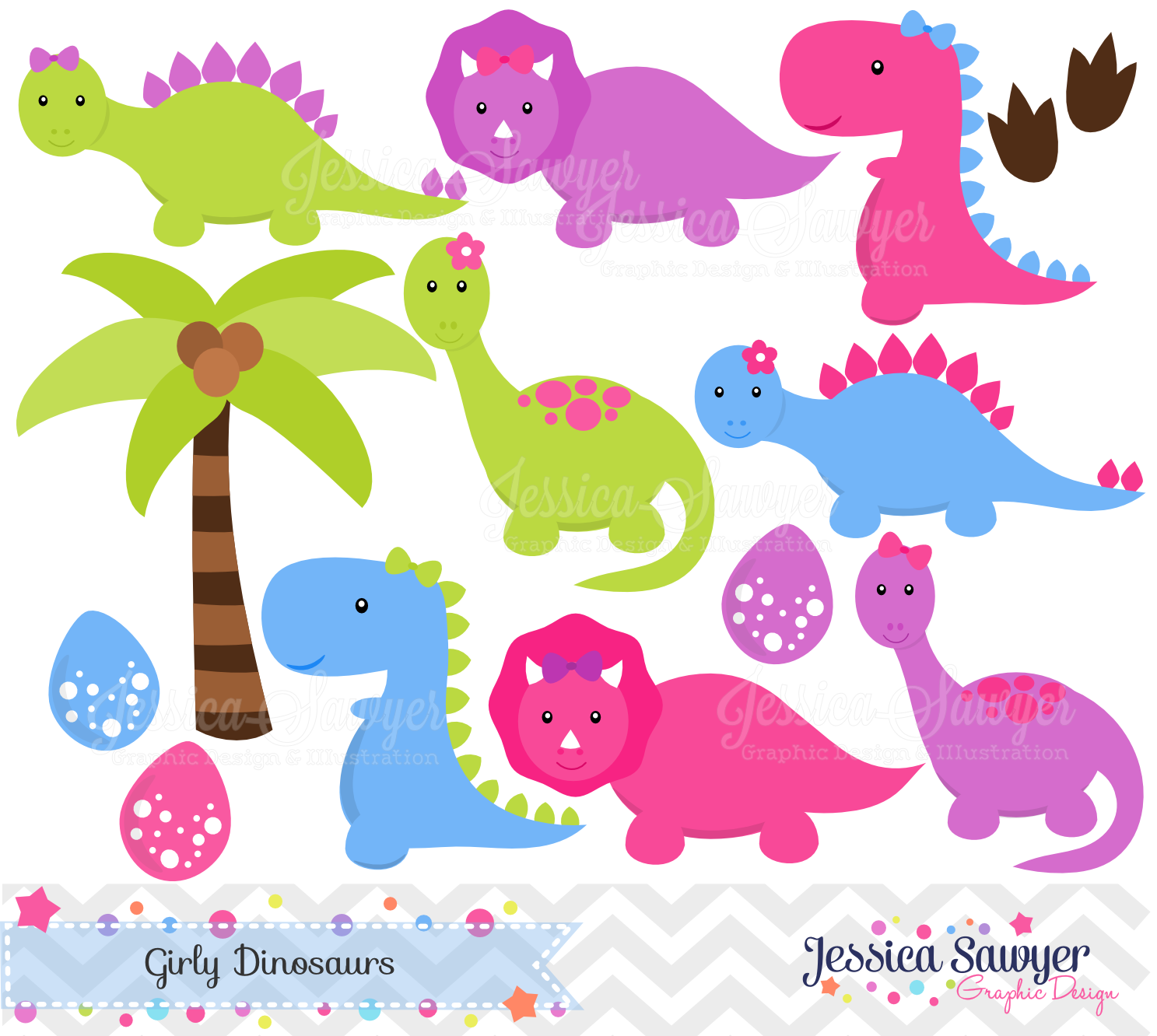 free girl dinosaur clipart - photo #5