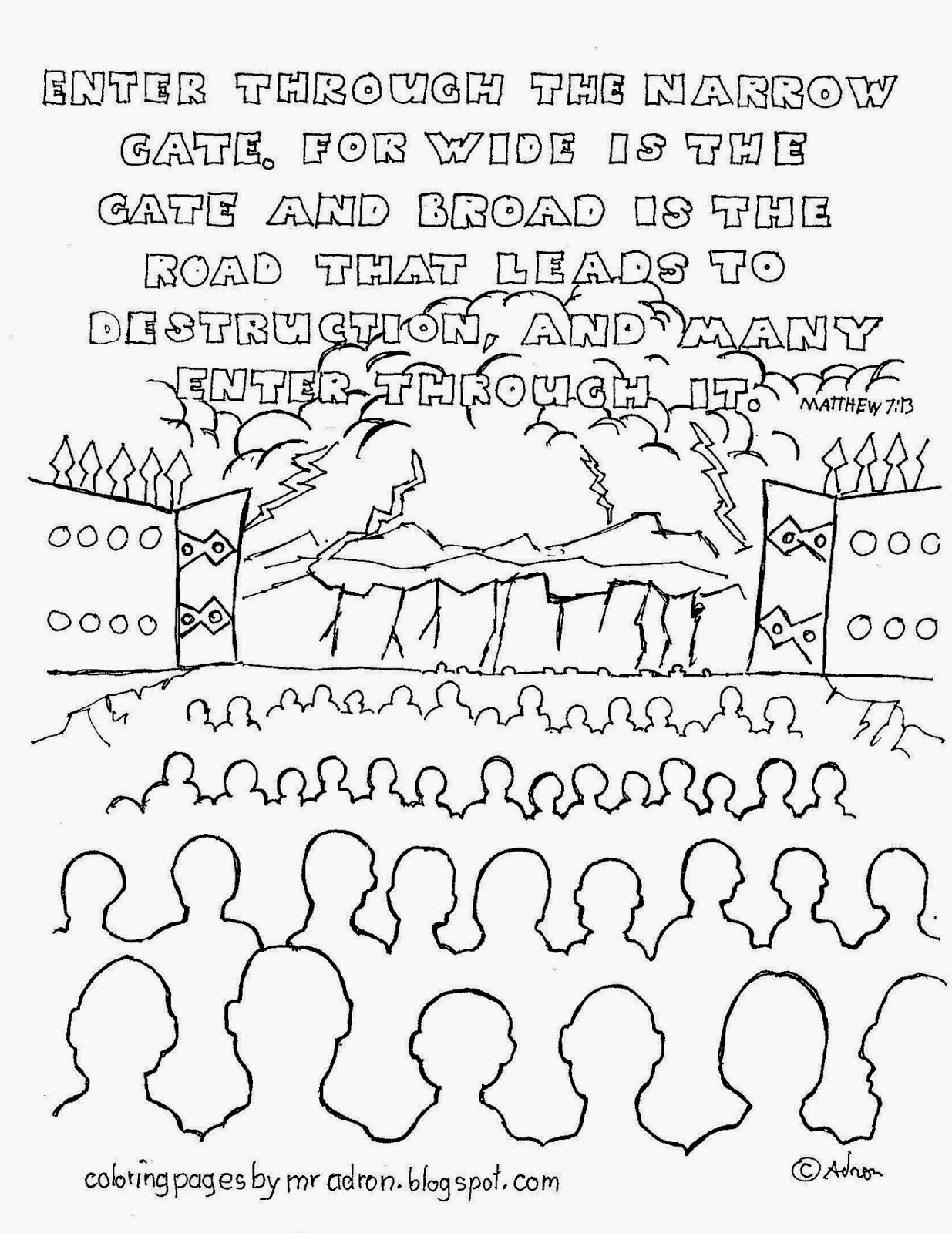 bible times gates coloring pages - photo#16