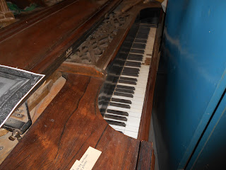 piano at bent museum in taos