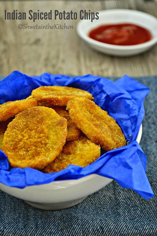Baked Indian Spiced Potato Chips - Batata Kachari