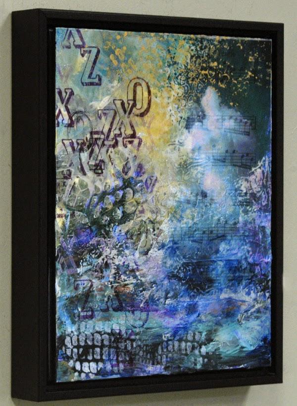 abstract mixed media by Sandra Duran Wilson