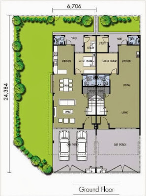 Floor plan feng shui m residence 22x80 2 storey for Feng shui floor plan