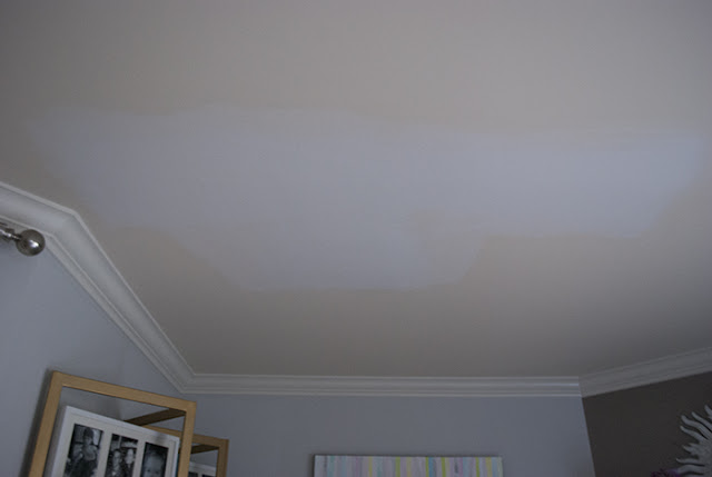 unfinished living room ceiling