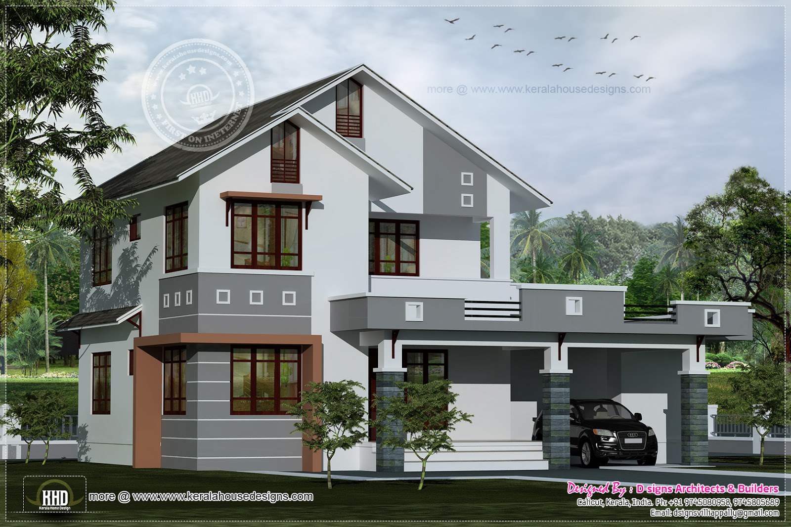 1979 Square Feet Villa Design Kerala Home And