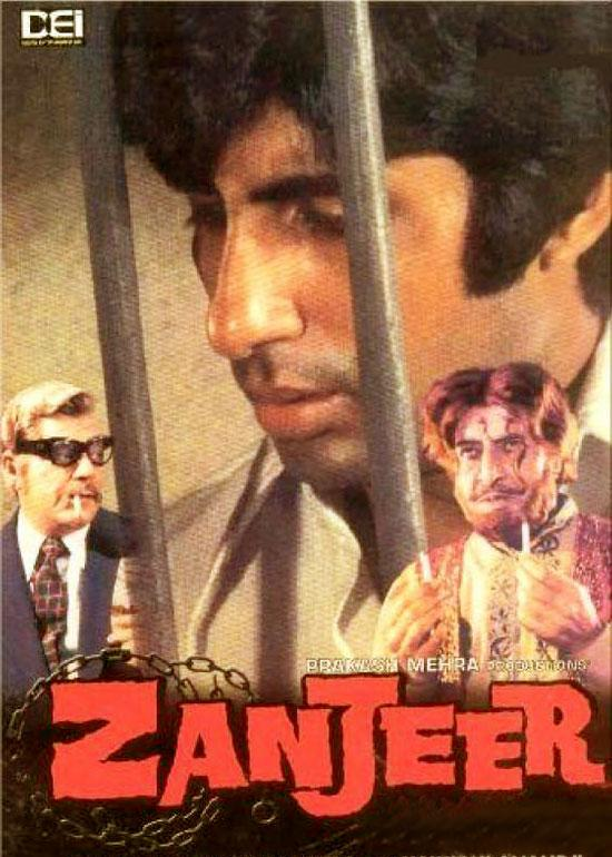 Poster Of Hindi Movie Zanjeer (1973) Free Download Full New Hindi Movie Watch Online At worldfree4u.com