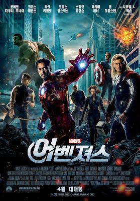 Cartel coreano de la película Avengers