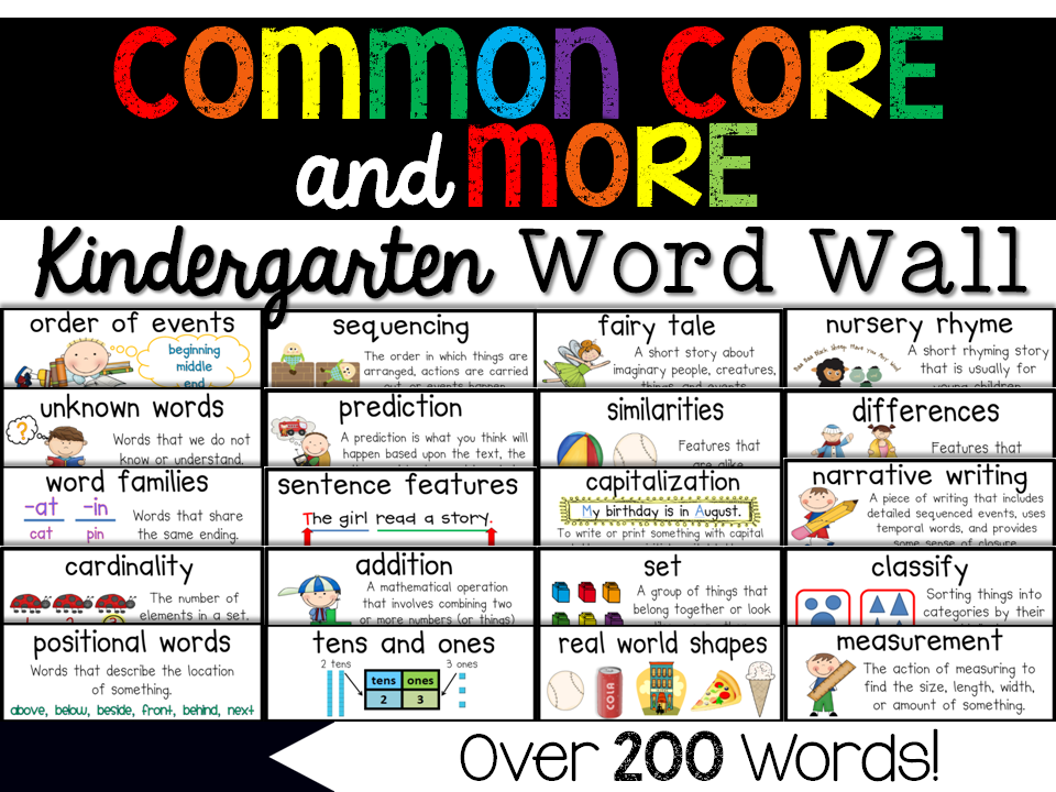 http://www.teacherspayteachers.com/Product/Kindergarten-Common-Core-More-Content-Word-Wall-261852