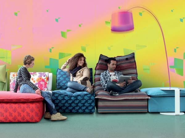 Homebuildlife calia italia at salone del mobile 2013 - Divano calia hip hop ...