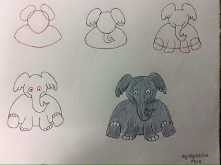 رسم فيل تعلم