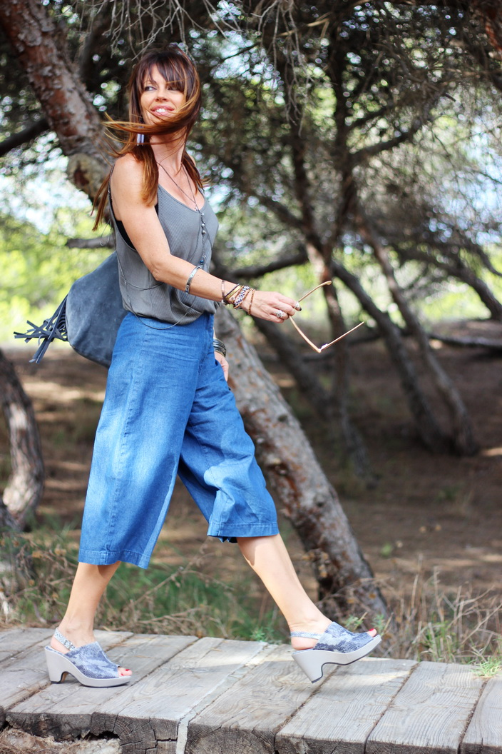 Culottes denim - outfit otoño 2015 - streetstyle - fashion blogger - Tendencias otoño 2015