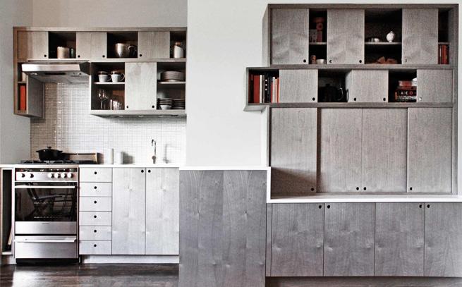 Marzua una cocina moderna sin pomos en las puertas - Pomos para puertas de cocina ...