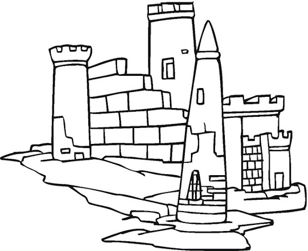 Dragon and castle coloring pages for Dragon and castle coloring pages