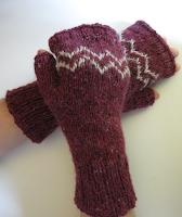 colourwork colorwork mitts mittens gloves knitting pattern zigzag
