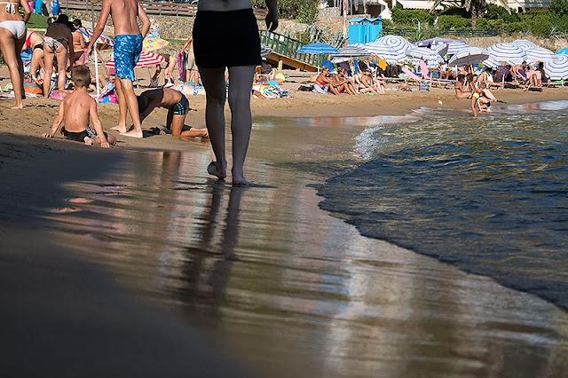 Peščana plaža Glifada na Krfu