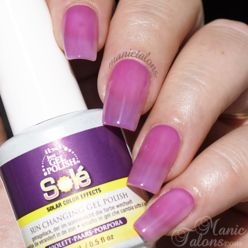 IBD Just Gel Polish Sole Purple Swatch in Sunlight