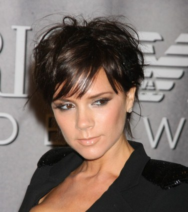 Short Black Haircuts on Victoria Beckham Short Wavy Cut  While Her Pixie Cut Grows Out