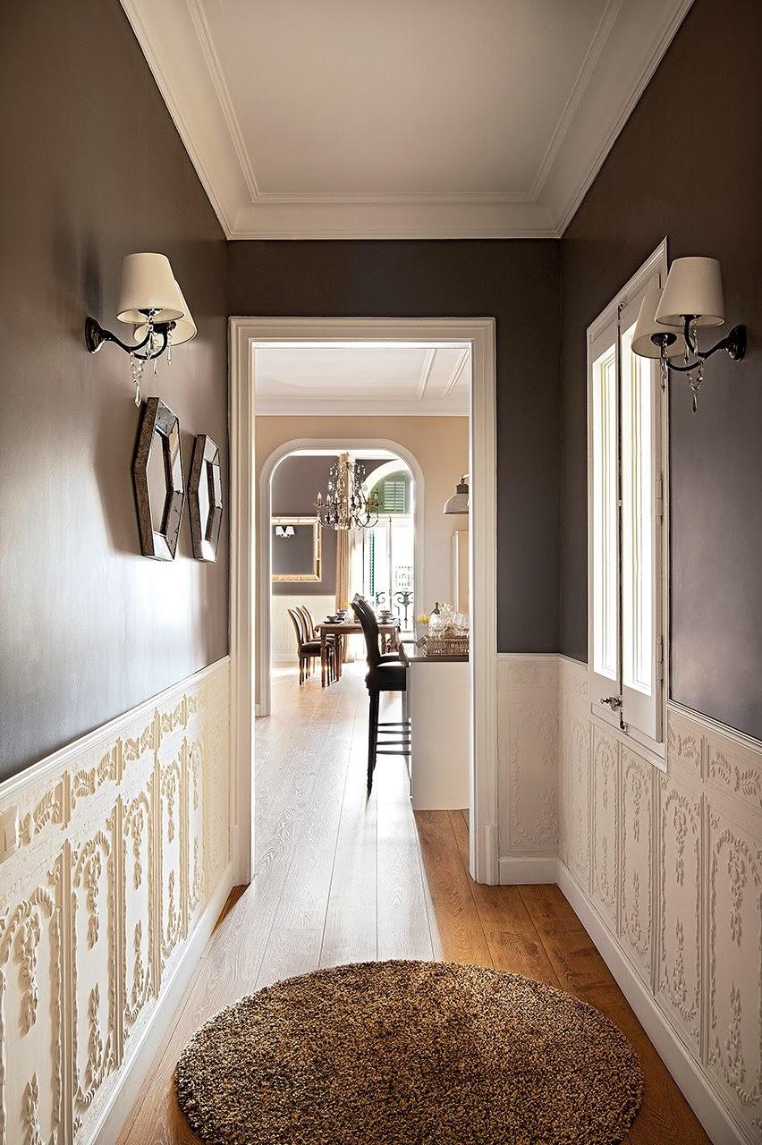amenajari, interioare, decoratiuni, decor, design interior, apartament, clasic, gri cenusiu, hol,