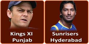 किंग्स एलेवेन पंजाब बनाम सनराइजर्स हैदराबाद 11 मई 2013 को है।