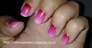 pink ombre gradient nails nail art
