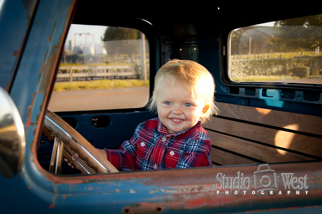 old truck portraits in san luis obispo vineyard