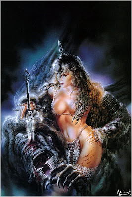 sexy heavy metal art warrior women with sword
