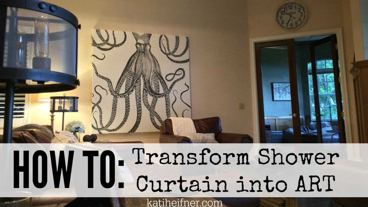 Kati heifner how to shower curtain wall art for Wall to wall curtain