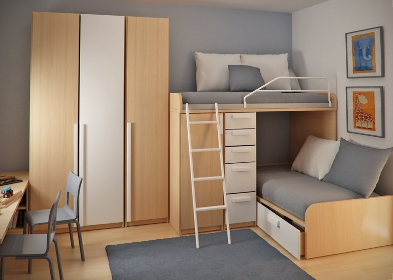 This Time There Is A Small Modifications The Bunk Beds Are Sliding One Under The Other And Can Save A Lot Of Space This Way