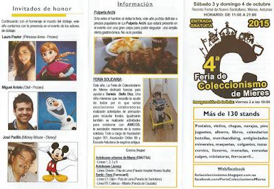 Tríptico: Feria del coleccionismo en Mieres