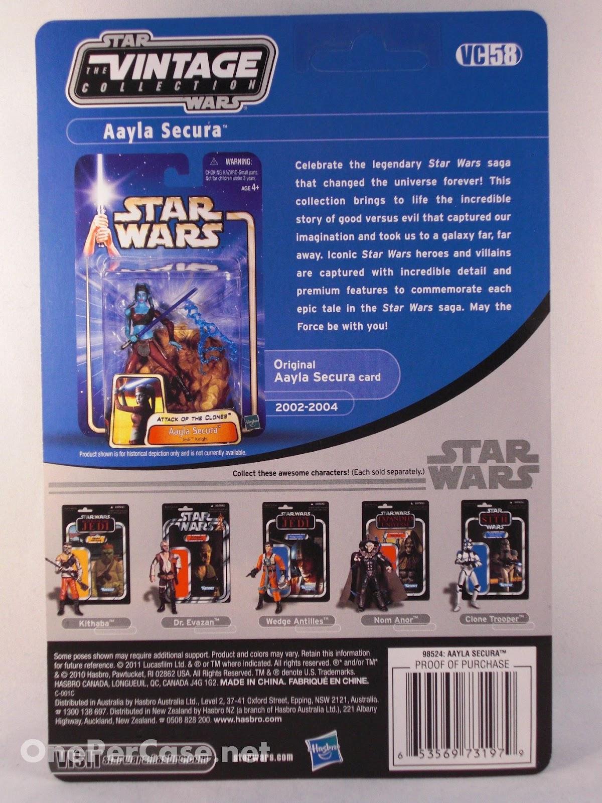 Star Wars Vintage Figure VC58 EpIII Aayla Secura Hasbro 98524