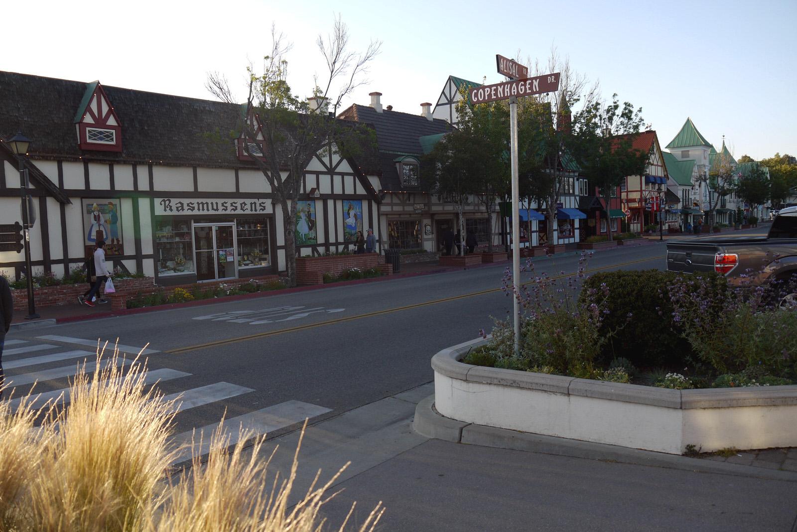 Copenhagen street in Solvang, CA