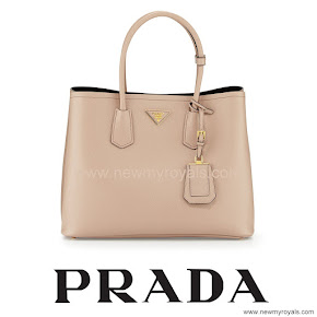 Princess Mary Style Prada Saffiano Cuir Double Bag