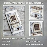 Warszawa, Kobiałka  Enkaustyczna zawieszka inspiracyjna