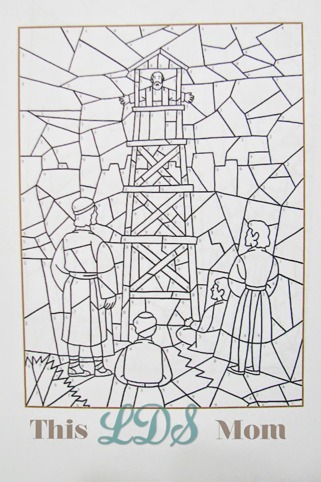 I Got This Coloring Page To Do From The Churchs Website It Is A Color By Number