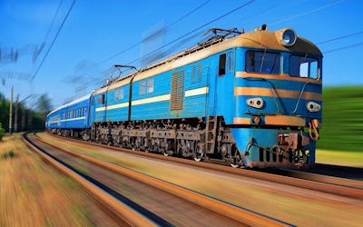 Un viejo tren azul - A beautiful blue train - Locomotoras