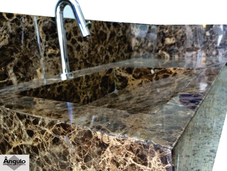 #876B44 Ângulo Mármores e Granitos: Bancada Marrom Imperador Banheiro 1324x993 px Banheiros Com Granito Marrom 1449
