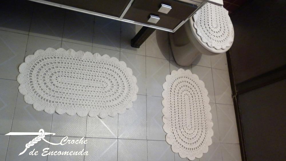 Croche de Encomenda Jogos de banheiro -> Jogo De Banheiro Simples Croche Passo A Passo