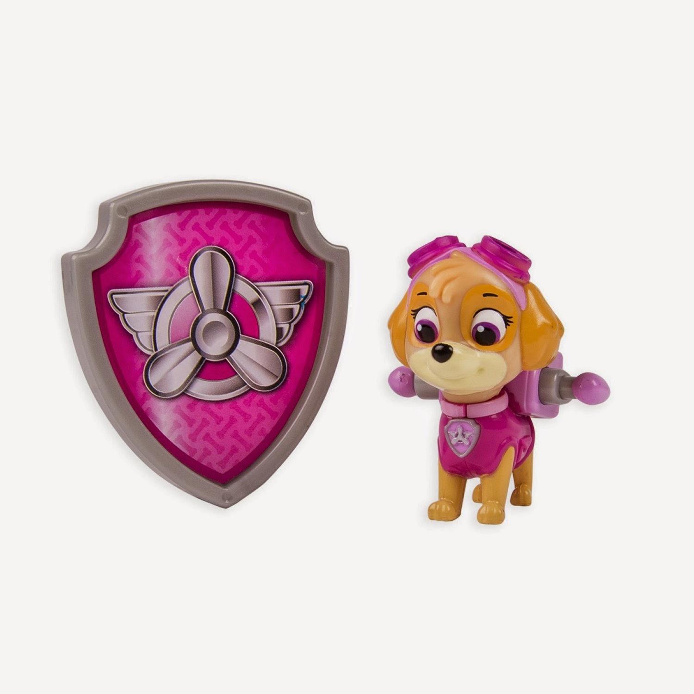 JUGUETES - Paw Patrol : La Patrulla Canina  Skye | Figura - Muñeco + Placa  Toys | Serie Televisión | Spin Master | A partir de 3 años