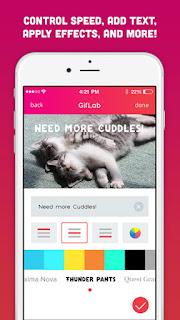 تطبيق giflab لانشاء وتحرير صور متحركه للايفون والايباد