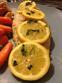 Garlic Baked Basa Fish