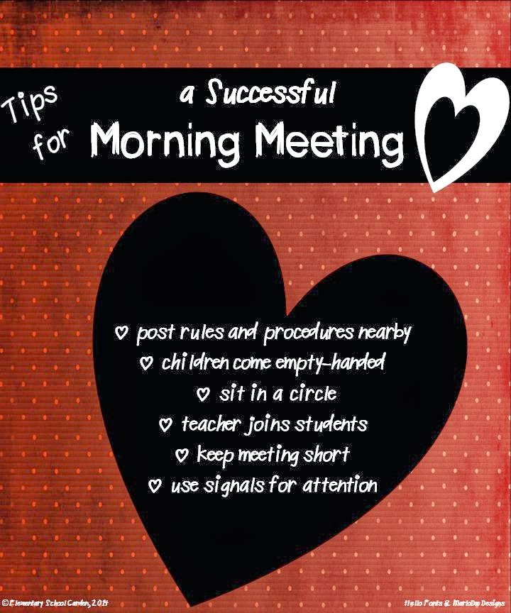 Elementary school garden morning meeting a responsive classroom here are some tips to help your morning meeting run smoothly m4hsunfo