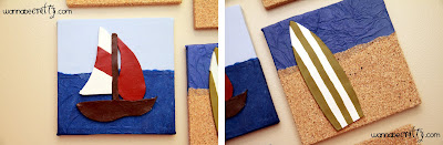 crafts for home decor: 3d beachy wall art tutorial